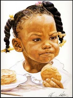This little girl is so adorable I printed her out and have her on my desk at work. Eventually I will buy a print for my living room. The artist is Alvin Hester.