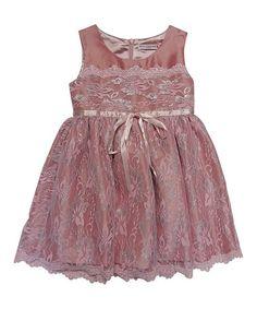 Look at this #zulilyfind! Pink Alyssia Lace Dress - Toddler & Girls #zulilyfinds