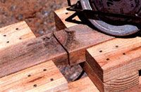 Build an economical sawhorse for your homestead that will look like pure gold to the hassled handyperson. Originally published as Woodworking Workshop, Woodworking Bench, Cool Diy, Easy Diy, Sawhorse Plans, Lumber Storage, Mother Earth News, Garage Workshop, Workshop Ideas