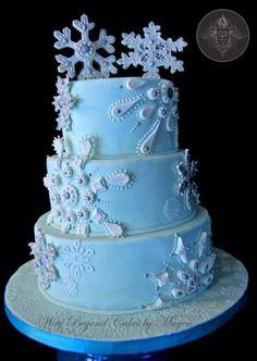 Snowflake Jewel Cake