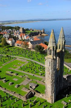 The Cathedral of St Andrew, St. Andrews, Fife, is a ruined Roman Catholic cathedral built in St Andrews, Cathedral Church, England And Scotland, Place Of Worship, Scotland Travel, British Isles, Great Britain, Beautiful Places, Scenery