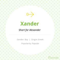 Baby Name: Xander