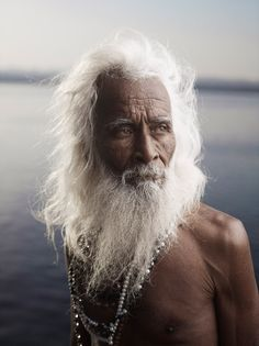 PORTRAIT OF SHIV JI TIWARI by Joey L.  Varanasi, India (people, portrait, beautiful, photo, picture, amazing, photography, old man, grey hair and beard)