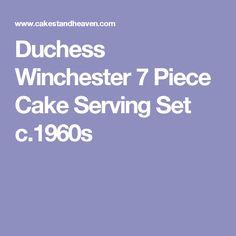 Duchess Winchester 7 Piece Cake Serving Set c.1960s