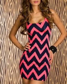 Chevron party dress @B R O O K E // W I L L I A M S Newhart - I think you could rock this!!