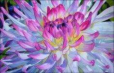 Chrysanthemum, 34 x 53 cm Krzysztof Kowalski (Espero) https://www.facebook.com/KrzysztofKowalskiWatercolorist