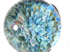 Frit Implosion Paperweight Lampwork Glass by MorningLightGlass, $50.00    Like looking into the depths of the sea.