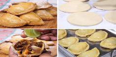 Ni yo misma me la crei, que estas son las mejores empanadas del mundo, mi familia le gusta mucho!   Receitas Soberanas Peruvian Recipes, Fritters, Pretzel Bites, No Bake Desserts, Dory, Buffet, Veggies, Bread, Snacks