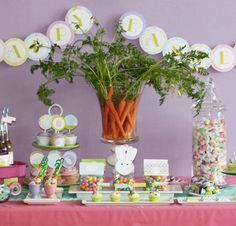 Easter/Spring - Carrot Centerpiece would be great for next years carrot dinner