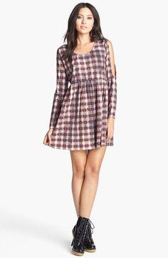 easy going print babydoll dress