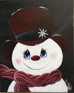 Great Pic Snowman painting step by step Tips It is really challenging to avoid contributing some sort of snowman painting task into a craft curri Snowman Crafts, Christmas Projects, Christmas Crafts, Christmas Decorations, Christmas Rock, Christmas Snowman, Christmas Ornaments, Country Christmas, Christmas Trees