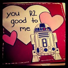 """in my 14 Days of Valentine's, a small and thoughtful gift each day. """"You good to me"""" - Valentines Day card. Great to give to your Star Wars nerd. Nerdy Valentines, Diy Valentines Day Gifts For Him, Valentine Day Cards, Phil Valentine, Valentines Day For Boyfriend, Boyfriend Birthday, Diy Crafts For Boyfriend, Boyfriend Ideas, Gift Boyfriend"""