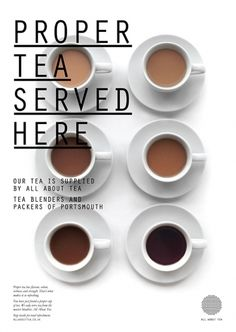 Fonts In Use – All About Tea. wow