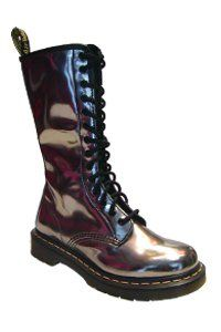 Dr. Martens - 14 eye - Pewter patent - one zip