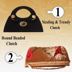 Carry elegant clutches with you that will fit your personality.!!  Sizzling & Trendy Studded Clutch Bag  http://khoobsurati.com/khoobsurati/sizzling-trendy-studded-clutch-bag-black  Designer Round Beaded Clutch http://khoobsurati.com/khoobsurati/designer-round-beaded-clutch-khoobsurati