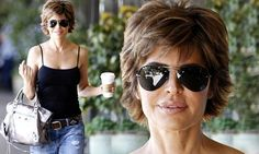 Lisa Rinna looked so pleased after she got her hands on a cup of coffee in Los Angeles on Monday