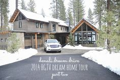 Right before Christmas I posted Part One of the Denali Dream Drive & the visit to the 2014 HGTV dream home. Can I tell you that I still think of that trip & that house daily? Mountain Home Exterior, Dream House Exterior, Dream House Plans, My Dream Home, Dream Houses, Hgtv Dream Homes, Cottage Style Homes, Craftsman Bungalows, Story House