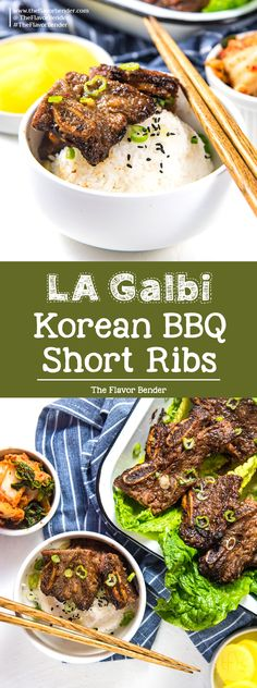 LA Galbi (Korean BBQ Short Ribs) - Sweet and savory, tender and delicious grilled beef short ribs. A Korean favorite that your family will love! Perfect for BBQs, or regular family dinners. #BBQRecipes #KoreanRecipes #BeefRibs via @theflavorbender