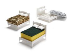 Clean Dreams is a kitchen sponge holder in the shape of a small bed so that the sponge could take a well-deserved rest in-between scrubs. Bed Sets, White Bedding, Bedding Sets, Home Office, Kitchen Sponge Holder, Design3000, Dreams Beds, Shops, Cozy Bed
