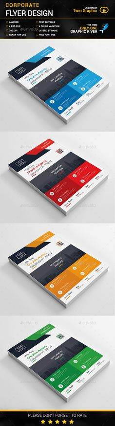 Buy Corporate Flyer Design by TwinGraphic on GraphicRiver.Easy Customizable and Editable .Flyer design with bleed setings) . Psd Flyer Templates, Business Flyer Templates, Print Design, Web Design, Modern Design, Flyer Layout, Green Landscape, Corporate Flyer, Flyer Design