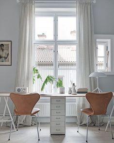 Clean & fresh work space with Ikea 'Helmer' cabinet @alvhem