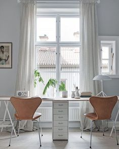 Clean & fresh work space with Ikea 'Helmer' cabinet @alvhem
