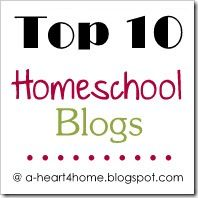 Top 10 homeschool blogs from All our Days