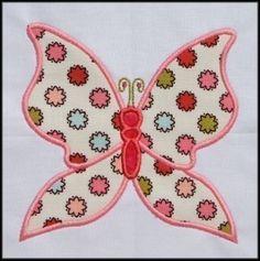 INSTANT DOWNLOAD Butterfly Applique 2 von DBembroideryDesigns