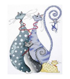Tobin-Cat Pack Counted Cross Stitch Kit-10 X14 14 Count at Joann.com