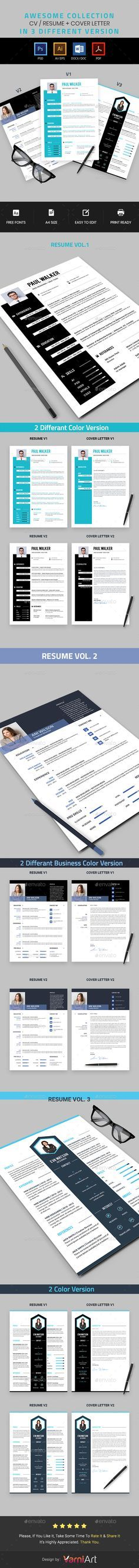 Resume Bundle Resumes Stationery 101 best