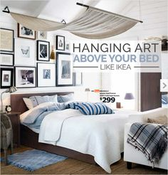 Hanging Art Above A Bed Like Ikea   Jennifer Squires Productions