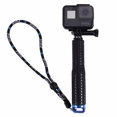 Puluz 150 este un selfie stick extensibil pentru camere. Acesta este foarte practic datorita dimensiunilor mici. Poate ajunge pana la lungimea de 49 cm, fiind usor de depozitat, iar cureaua inclusa va ajuta sa aveti o priza mai buna atunci cand il folositi. Selfies, Camera Rig, Dji Osmo, Sports Camera, Ali Express, Selfie Stick, Gopro Hero, Goods And Service Tax, Camera Accessories