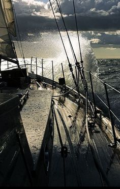 Being out on the open ocean is utterly exhilarating and really appeals to my sense of adventure. Rough time and the smooth sailing. Yacht Boat, All Nature, Sail Away, Set Sail, Tall Ships, Belle Photo, Strand, Sailing Ships, Ocean Sailing