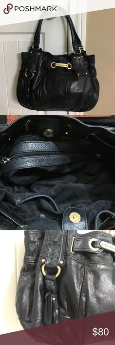 Authentic Juicy Couture Leather Hobo Bag In excellent condition. Soft black leather with gold hardware. Magnetic snap closure. Has no rips, tears, or stains! Dust bag included!! From smoke free/pet free home. Juicy Couture Bags Hobos