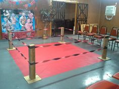 no WWE party would be complete without your very own wrestling ring...