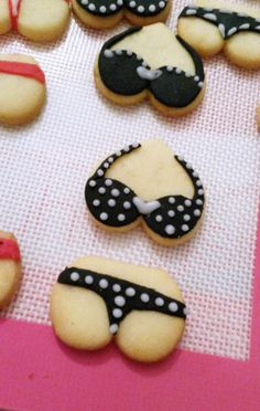 Bikini / Underwear Cookies * nasty cookies * bachelorette Party * Candy * made by Coucoubonheur