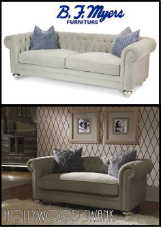#HollywoodSwank Living Room Love Seat Platinum AVAILABLE AT B.F. MYERS  FURNITURE In Goodlettsville,