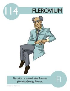 Flerovium Elements - Experiments in Character Design Chemistry Periodic Table, Chemistry Classroom, Teaching Chemistry, Science Chemistry, Science Facts, Science Humor, Physical Science, Science Education, Science Experiments