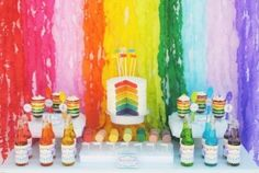 Different drink colors for a rainbow party by Khloebug1