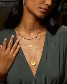 Unique jewelry that combines semi-precious gemstones, gold, and sterling silver. Satya Jewelry brings hope and meaning to all those that wear it. Center your chakra today Jewelry Websites, Semi Precious Gemstones, Chakra, Gold Necklace, Sterling Silver, Unique Jewelry, How To Wear, Fashion, Moda
