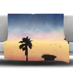 "East Urban Home Carlsbad Sunset Fleece Throw Blanket Size: 40"" L x 30"" W"