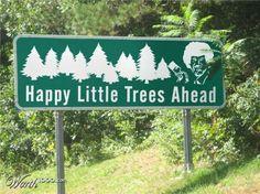 bob ross happy little trees