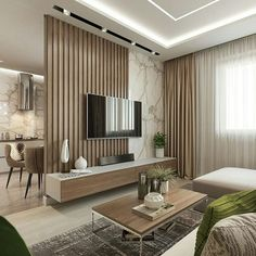 living room design ideas to give you a new style with a cozy and cool tv wall design decoration with a limited budget Cozy Living Rooms, Home Living Room, Interior Design Living Room, Modern Interior, Simple Interior, Living Room Divider, Small Room Interior, Lobby Interior, Modern Tv