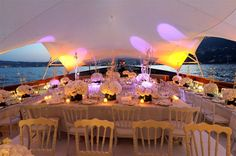 All white for the boat party!  Wedding by Monte-Carlo Weddings.