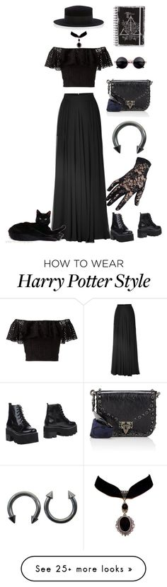 """#121"" by http-omam on Polyvore featuring Elie Saab, Philosophy di Lorenzo Serafini, Jeffrey Campbell, Black and Valentino"