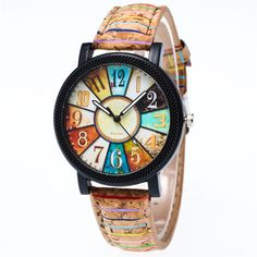 >> Click to Buy <<  2017 Hot Sale Fashion Harajuku Graffiti Pattern Leather Band Analog Quartz Vogue Wrist Watches #Affiliate