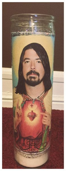 Dave Grohl Holy Candle glitter by StuffByWenz on Etsy
