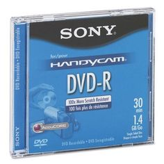 Mini (8cm) DVD-R Disc - 1.4GB, 2x, with Jewel Case, Silver(sold in packs of 3) by Sony. $14.99. Mini (8cm) DVD-R Disc - 1.4GB,  2x,  with Jewel Case,  Silver(sold in packs of 3)