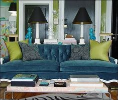 Flights of Whimsy: Currently Obsessed With; Blue Couches