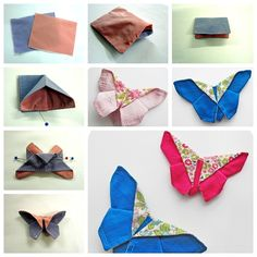 fabric origami butterfly F